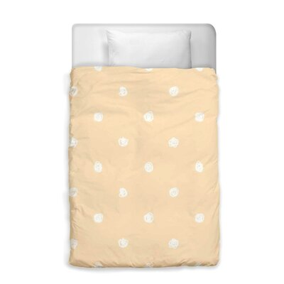 Shelia White Dot Pattern Duvet Cover Size: Twin