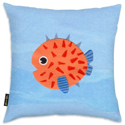 Shelia Blowfish Throw Pillow
