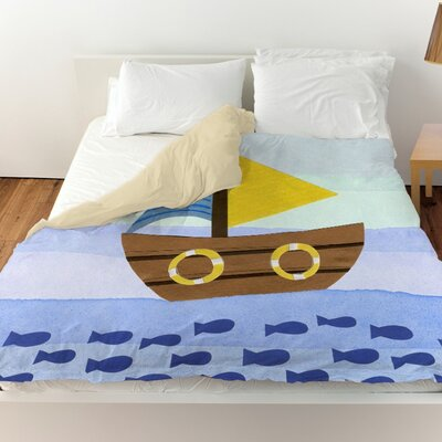 Shelia Boat Duvet Cover Size: Twin