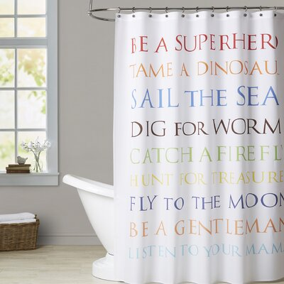 Textual Shower Curtain