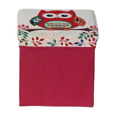 Morris Folding Storage Ottoman Upholstery: Red