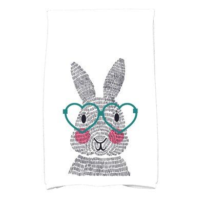 Nona What's Up Bunny? Hand Towel Color: Teal