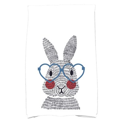Nona What's Up Bunny? Hand Towel Color: Blue
