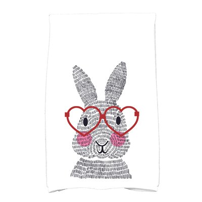 Nona What's Up Bunny? Hand Towel Color: Red