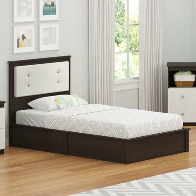 Wes Twin Platform Bed Color: Coffee House Plank