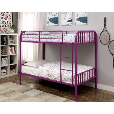 Olga Twin over Twin Bunk Bed Color: Purple