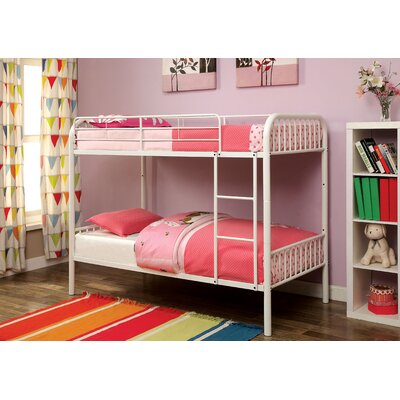 Olga Twin over Twin Bunk Bed Color: White