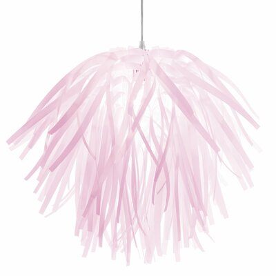 Alec 1-Light Mini Pendant Shade Color: Pink, Size: 17 H x 20 W