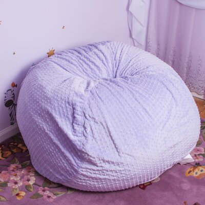 Polka Dots Fabric Bean Bag Chair Upholstery: Purple