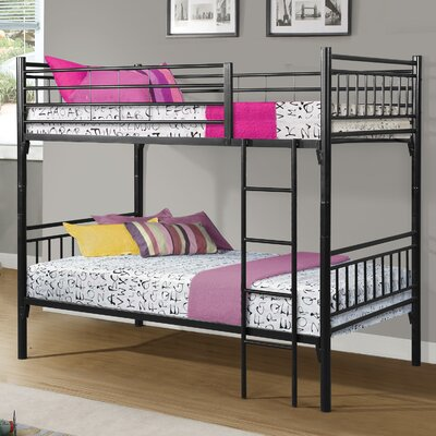 Norma Twin over Twin Bunk Bed Color: Black