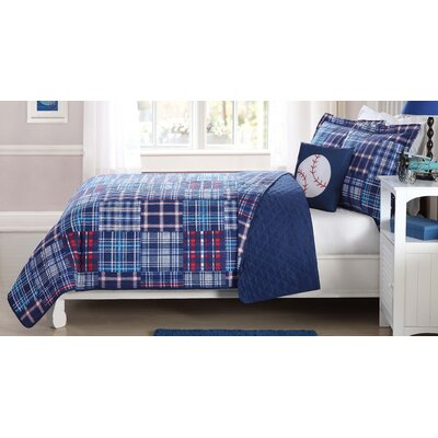 Nancy Plaid Patch Quilt Mini Set Size: Twin