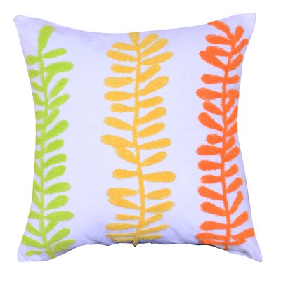 Ameri Embroidered Cotton Throw Pillow Color: Yellow