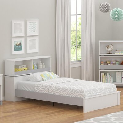 Murray Twin Slat Bed Finish: White/Light Slate Gray