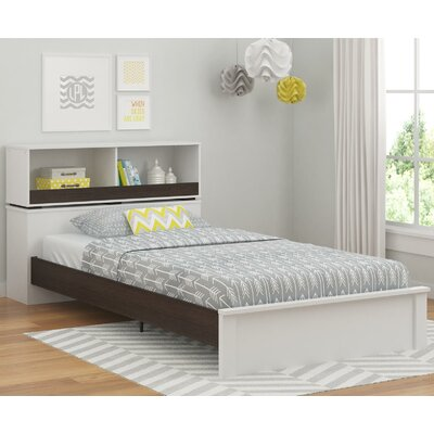 Murray Twin Slat Bed Finish: White/Coffee House Plank
