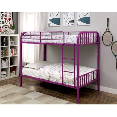 Olga Twin Bunk Bed Color: Purple