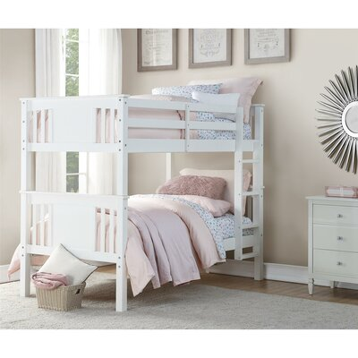 Alimi Twin over Twin Bunk Bed Color: White