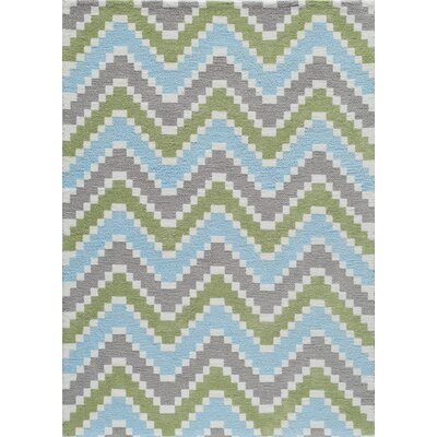 Anita Hand-Tufted�Green/Blue/Gray Area Rug Rug Size: 76 x 96