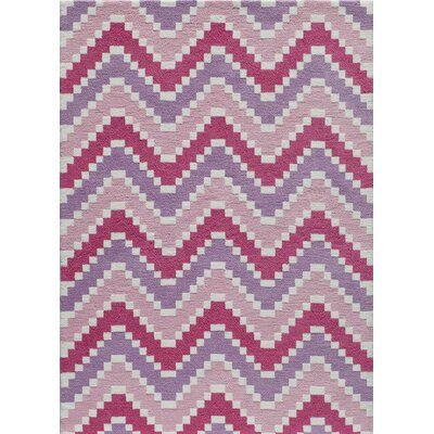 Anita Hand-Tufted Pink Area Rug Rug Size: Rectangle 5 x 7