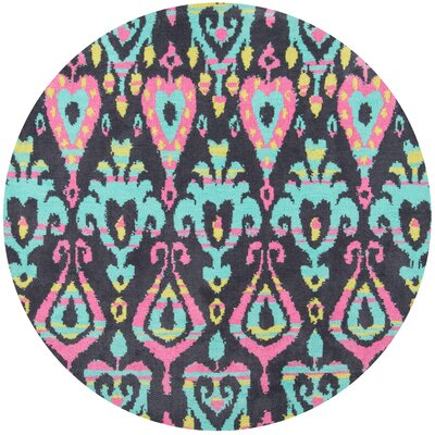 Anita Hand-Tufted Pink/Blue Area Rug Rug Size: Rectangle 5 x 7