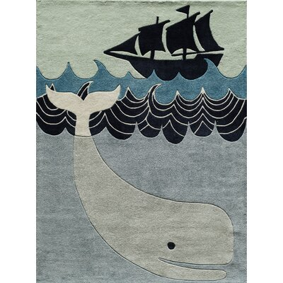 Johnnie Hand-Tufted Blue/Gray Kids Rug Rug Size: Rectangle 4 x 6