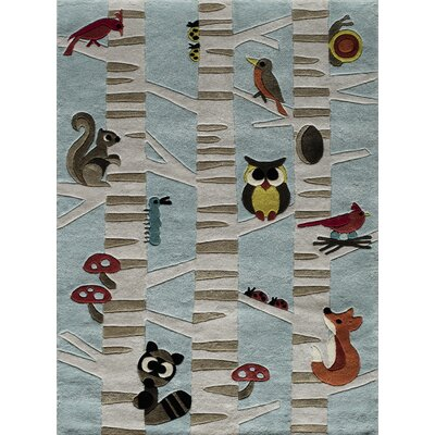 Johnnie Hand-Tufted Light Blue Kids Rug Rug Size: Rectangle 3 x 5