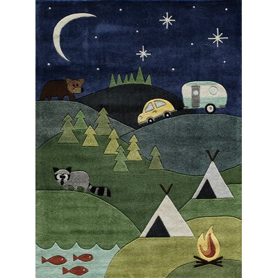 Johnnie Hand-Tufted Blue Kids Rug Rug Size: 4 x 6