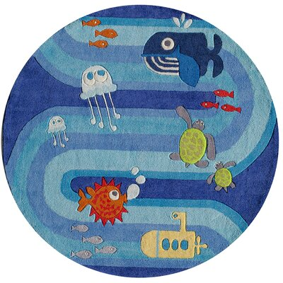 Johnnie Hand-Tufted Blue Kids Rug Rug Size: 5 x 7