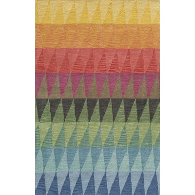 Eli Hand-Tufted Blue/Green/Yellow Kids Rug Rug Size: Rectangle 36 x 56