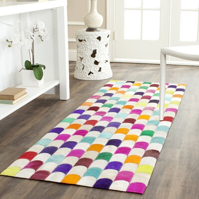 Amaryllis Leather Rug Rug Size: Runner 23 x 7