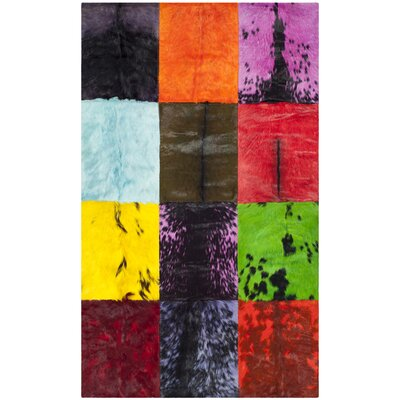 Latisha Leather Rug Rug Size: 3 x 5
