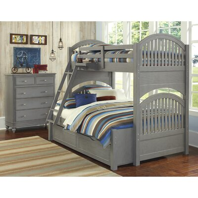 Javin Twin Bunk Bed Color: Stone, Size: Twin over Full