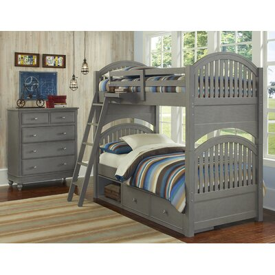 Javin Twin Bunk Bed Color: Stone, Size: Twin over Twin