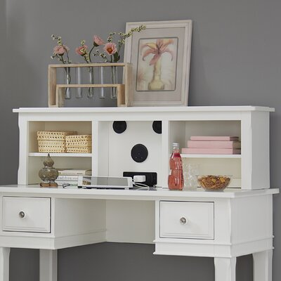 Javin 14.25 H x 47.25 W Desk Hutch Color: White