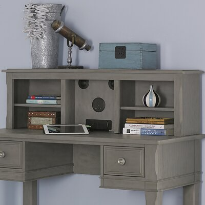 Javin 14.25 H x 47.25 W Desk Hutch Color: Stone