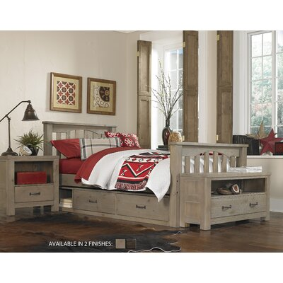 Gisselle Slat Bed Size: Twin, Color: Driftwood