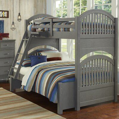 Javin Twin over Full Bunk Bed Guard Rails Finish: Stone