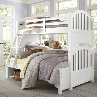 Javin Twin over Full Bunk Bed Guard Rails Finish: White