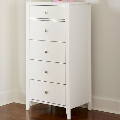 Susan 5 Drawer Lingerie Chest Color: White