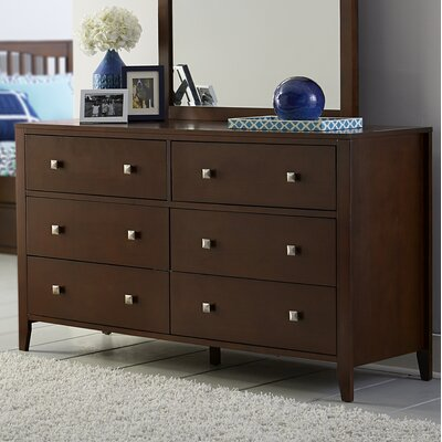 Susan 6 Drawer Double Dresser Color: Cherry