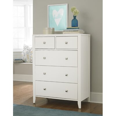 Susan 5 Drawer Chest Finish: White