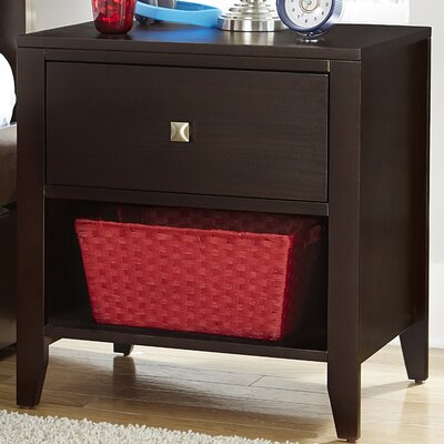 Susan 1 Drawer Nightstand Color: Chocolate