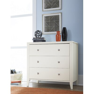 Susan 3 Drawer Chest Color: White