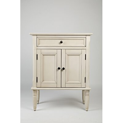 Glenburn 1 Drawer Nightstand Color: Ivory