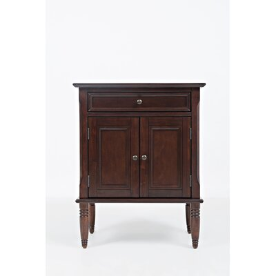 Hugo 1 Drawer Nightstand Color: Birch Cherry