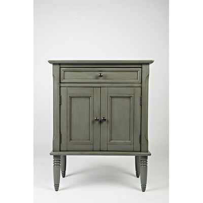 Glenburn 1 Drawer Nightstand Color: Grey