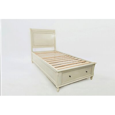 Glenburn Storage Platform Bed Color: Ivory, Size: Twin