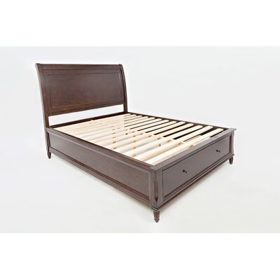 Glenburn Storage Platform Bed Color: Birch Cherry, Size: Full
