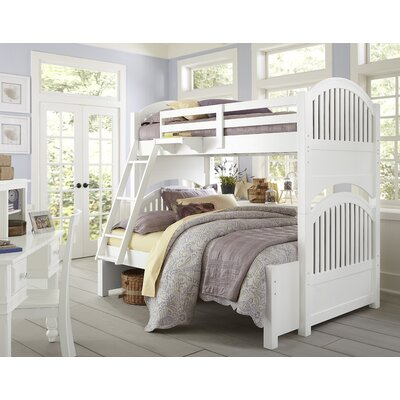 Javin Twin Bunk Bed Color: White, Size: Twin over Full