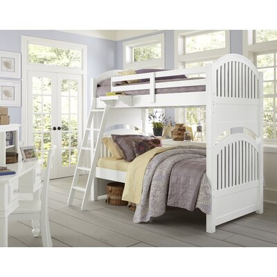 Javin Twin Bunk Bed Color: White, Size: Twin over Twin