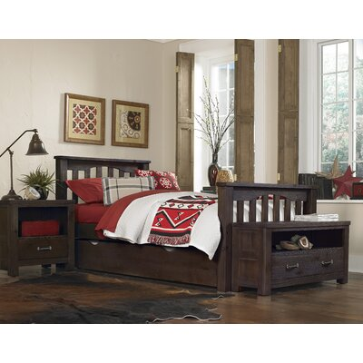Gisselle Slat Bed Size: Twin, Color: Espresso